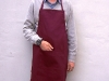 Apron-Burgundy Poly/cotton PMS 690c