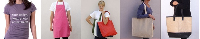 tshirt apron shopping bag