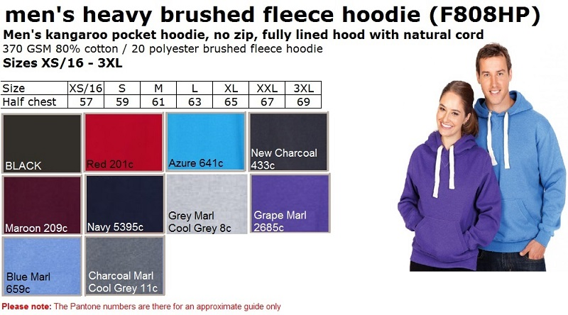 Men Super Heavy Hoodie NO zip