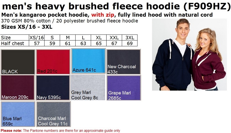 Men Super Heavy Hoodie WITH zip