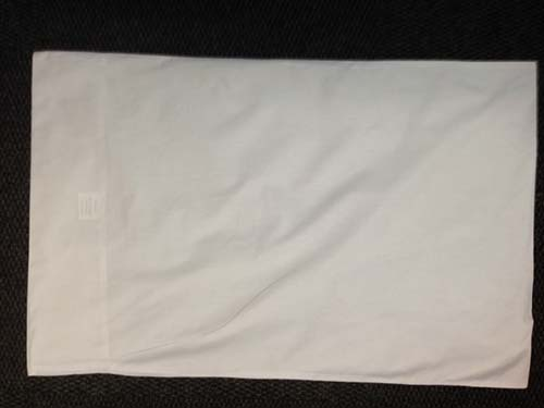 White cotton pillow case