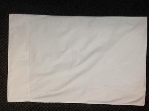 White cotton pillow case