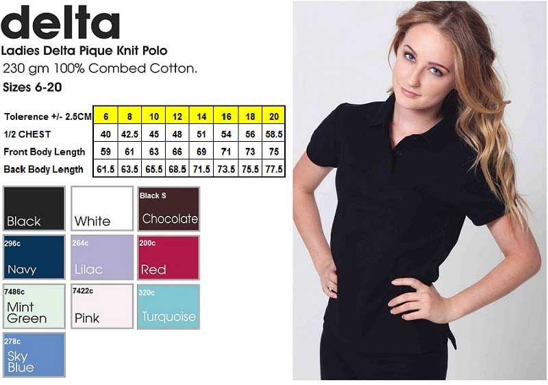 delta ladies polo shirt
