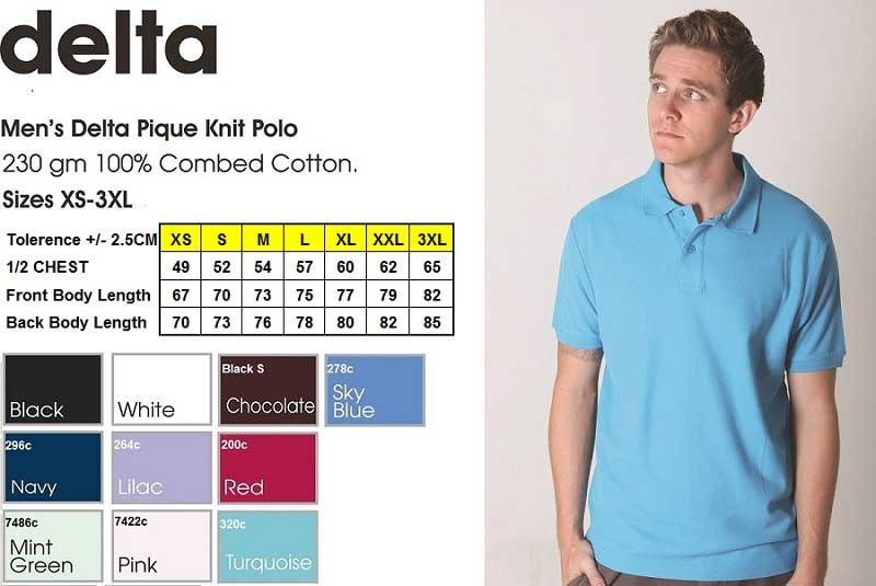 delta men's polo shirt
