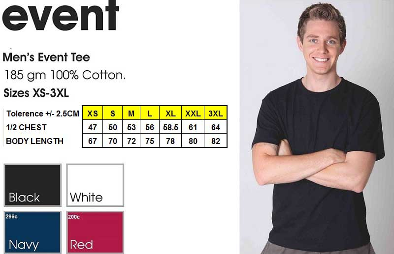 event men's tee shirt