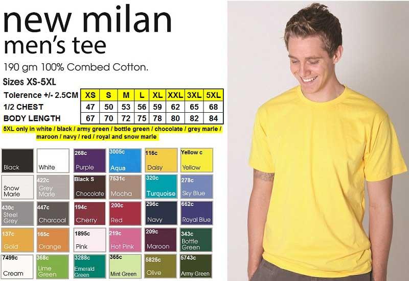 new milan tshirt