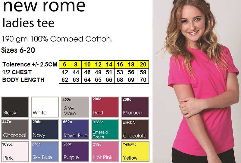 new rome ladies tshirt