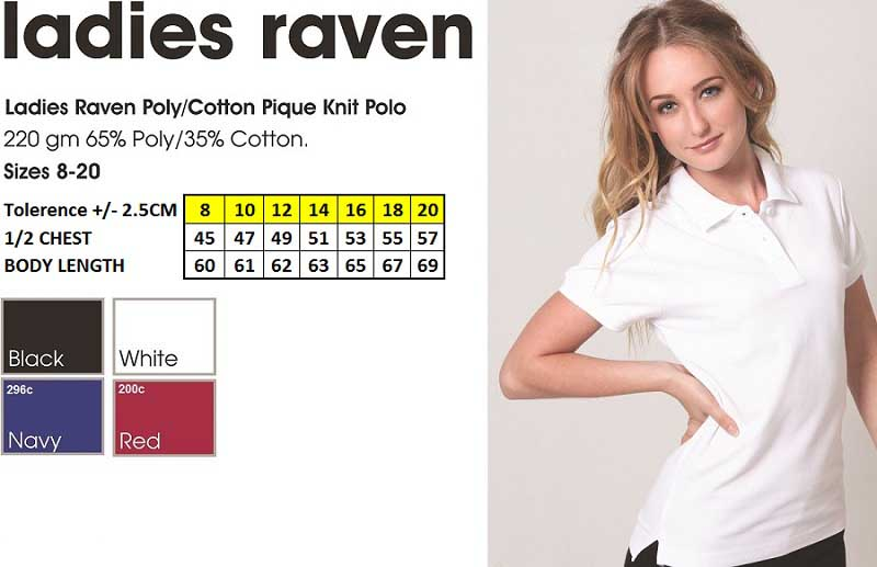 raven ladies polo shirt